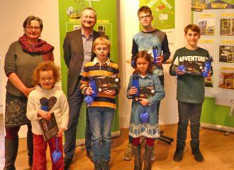 Kinder und Jugendliche mit viel Know-How gewinnen beim gewobau-Gewinnspiel zur Mitmachausstellung