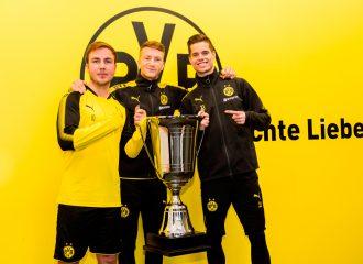 Botschafter für den Family-Cup (von links): Mario Götze, Marco Reus und Julian Weigl