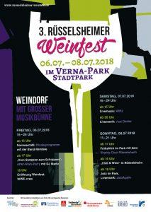 3. Rüsselsheimer Weinfest vom 6. bis 8.7. im Verna-Park